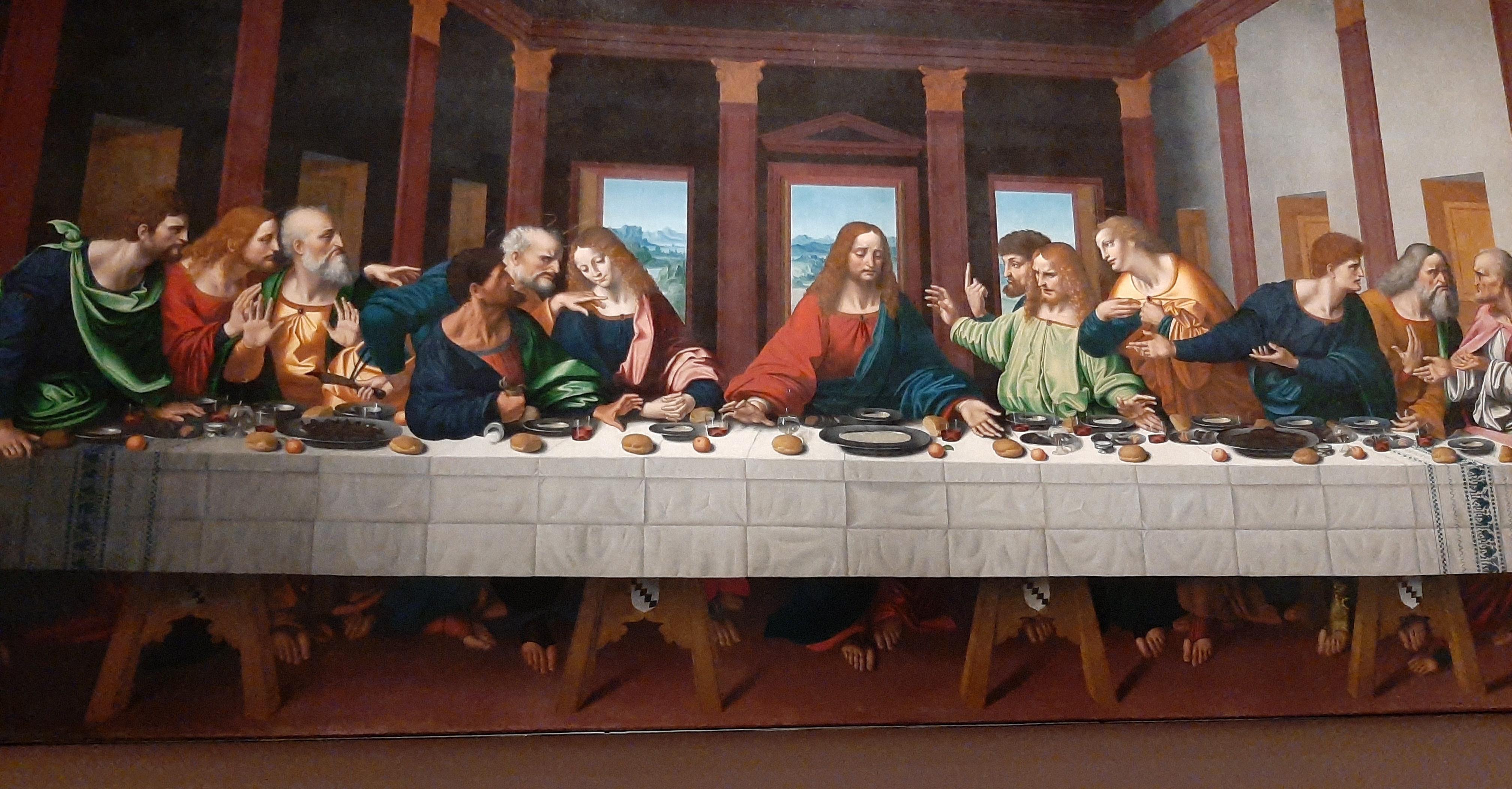 Het Laatste Avondmaal van Leonardo Da Vinci.